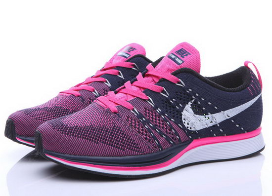 Womens Nike Flyknit Trainer Pink Dark Blue Sweden